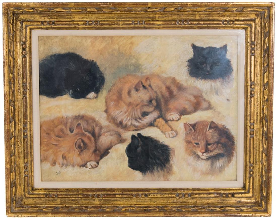 """IN THE MANNER OF HENRIETTE RONNER: """"STUDY OF CATS"""""""