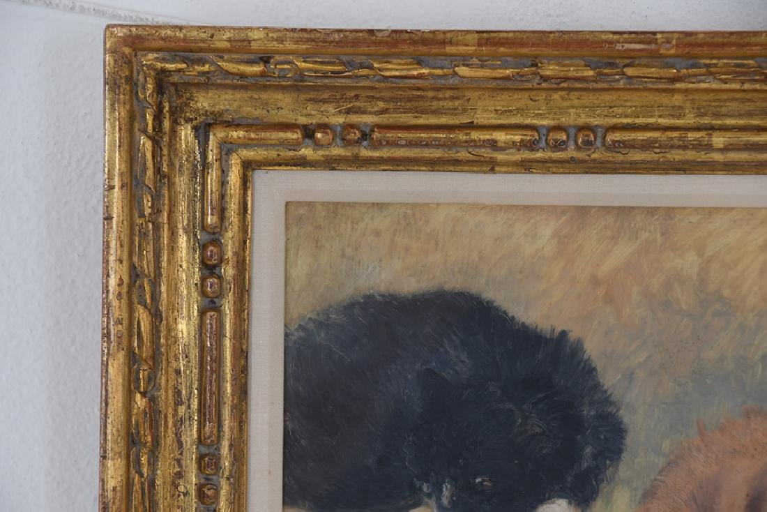 """IN THE MANNER OF HENRIETTE RONNER: """"STUDY OF CATS"""" - 2"""