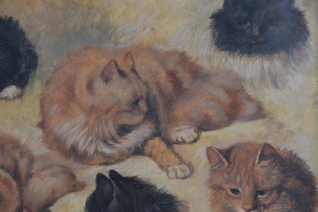 """IN THE MANNER OF HENRIETTE RONNER: """"STUDY OF CATS"""" - 5"""