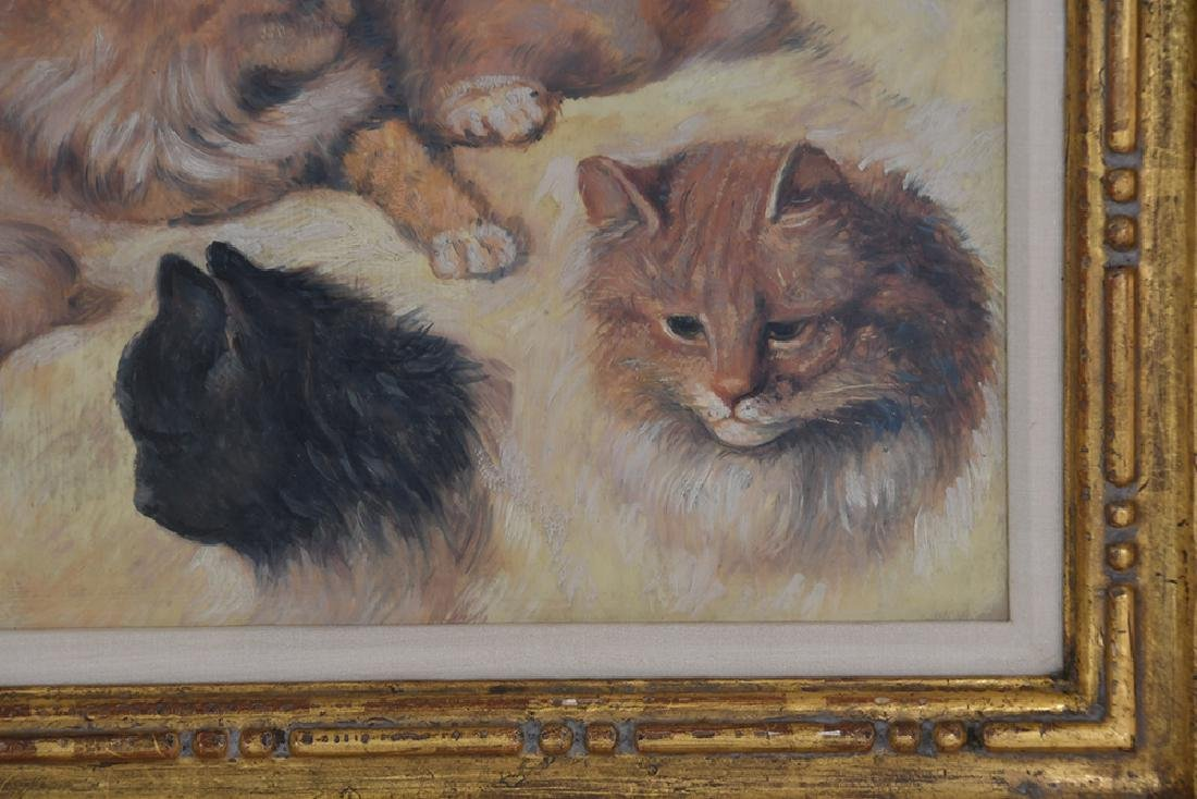 """IN THE MANNER OF HENRIETTE RONNER: """"STUDY OF CATS"""" - 6"""