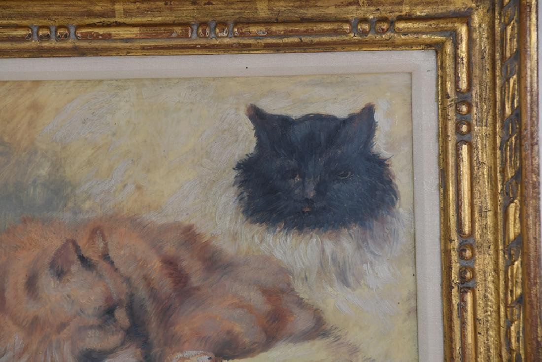 """IN THE MANNER OF HENRIETTE RONNER: """"STUDY OF CATS"""" - 7"""