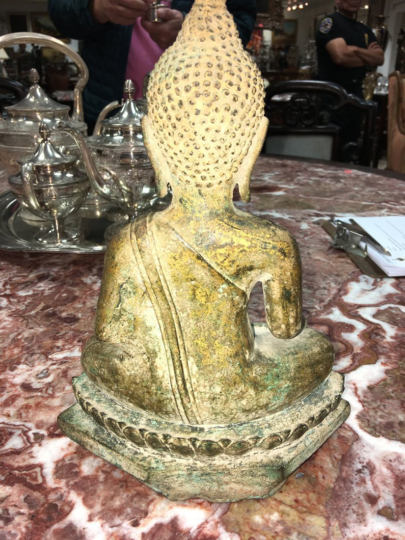 GILT BRONZE SEATED BUDDHA - 7
