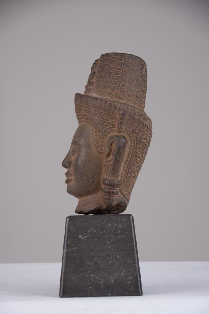 KHMER STONE HEAD OF BUDDHA - 2