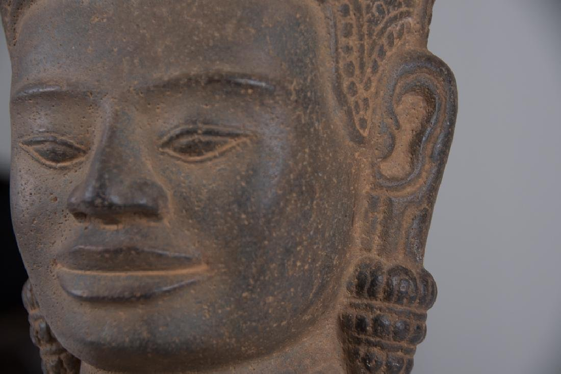 KHMER STONE HEAD OF BUDDHA - 3