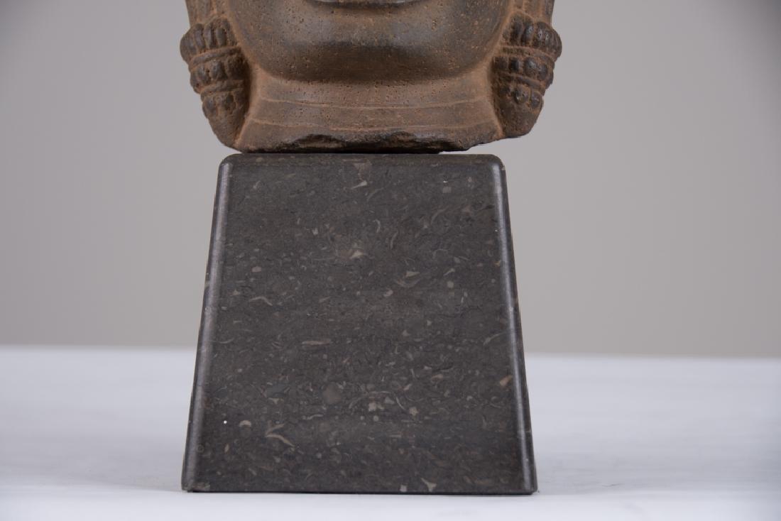 KHMER STONE HEAD OF BUDDHA - 4