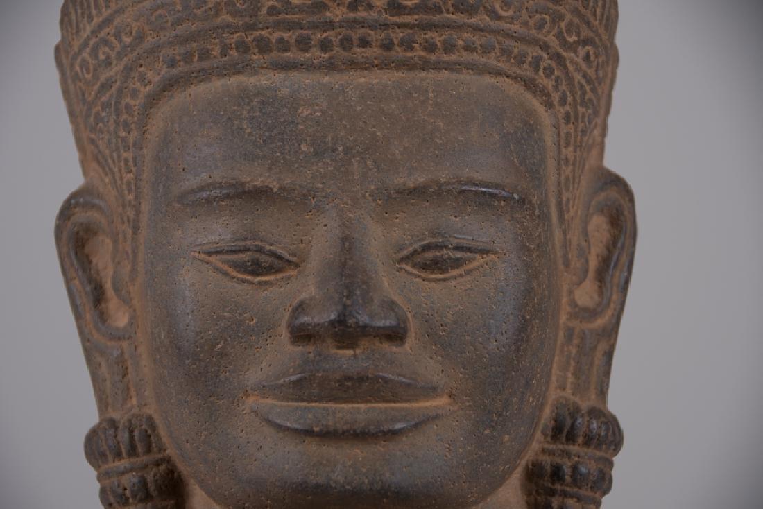 KHMER STONE HEAD OF BUDDHA - 5