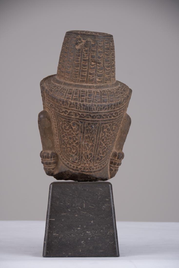 KHMER STONE HEAD OF BUDDHA - 7
