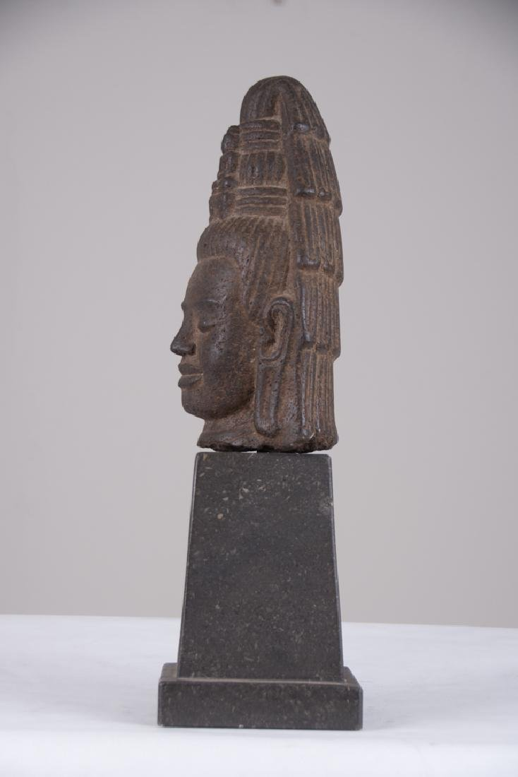 KHMER STONE HEAD OF LOKESVARA - 2