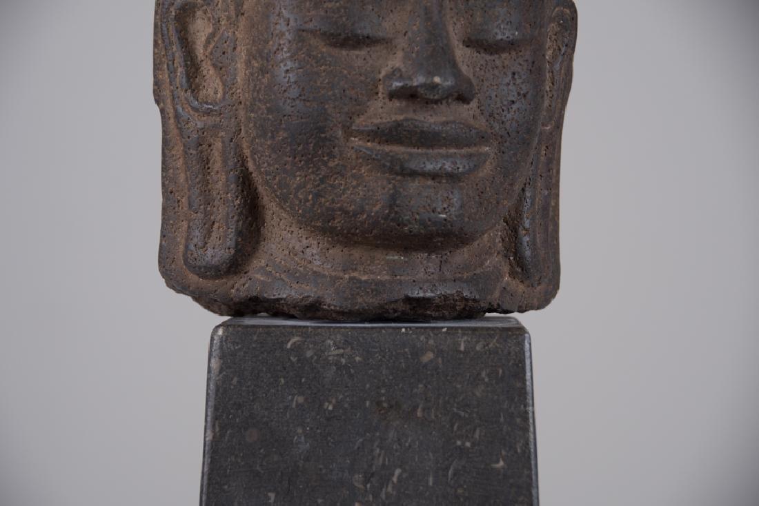 KHMER STONE HEAD OF LOKESVARA - 4