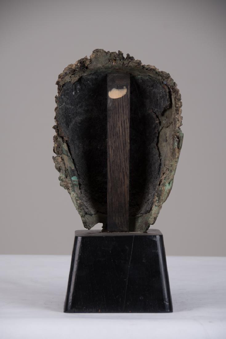 THAI BRONZE HEAD OF A BUDDHA - 3