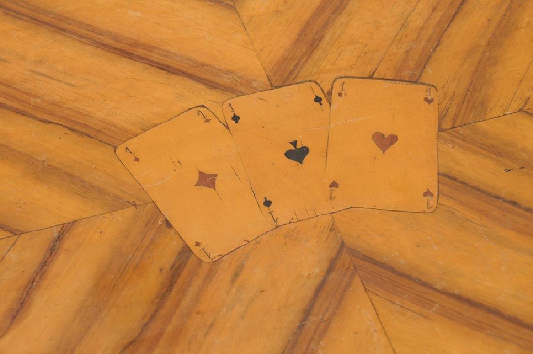 AUSTRIAN MARQUETRY INLAID WALNUT CARD TABLE - 6