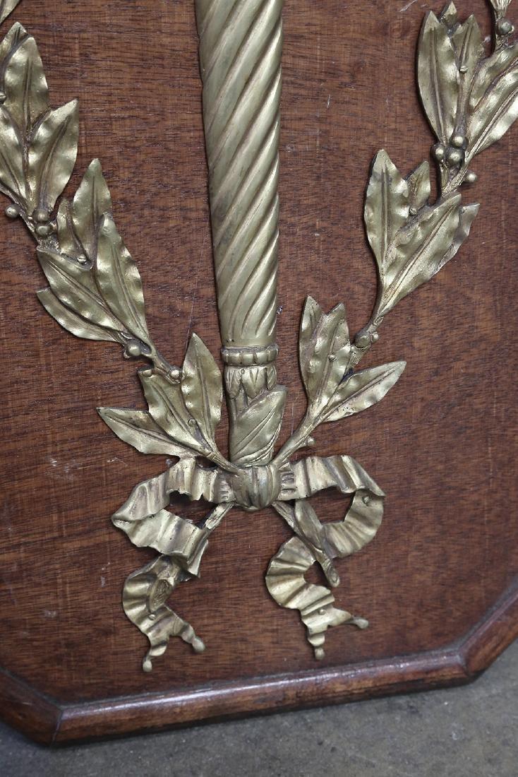 PAIR OF LOUIS XVI STYLE GILT BRONZE SCONCES - 5