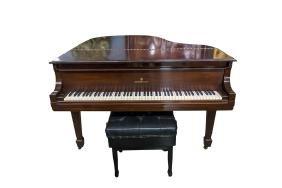 STEINWAY & SONS MAHOGANY CASE GRAND PIANO