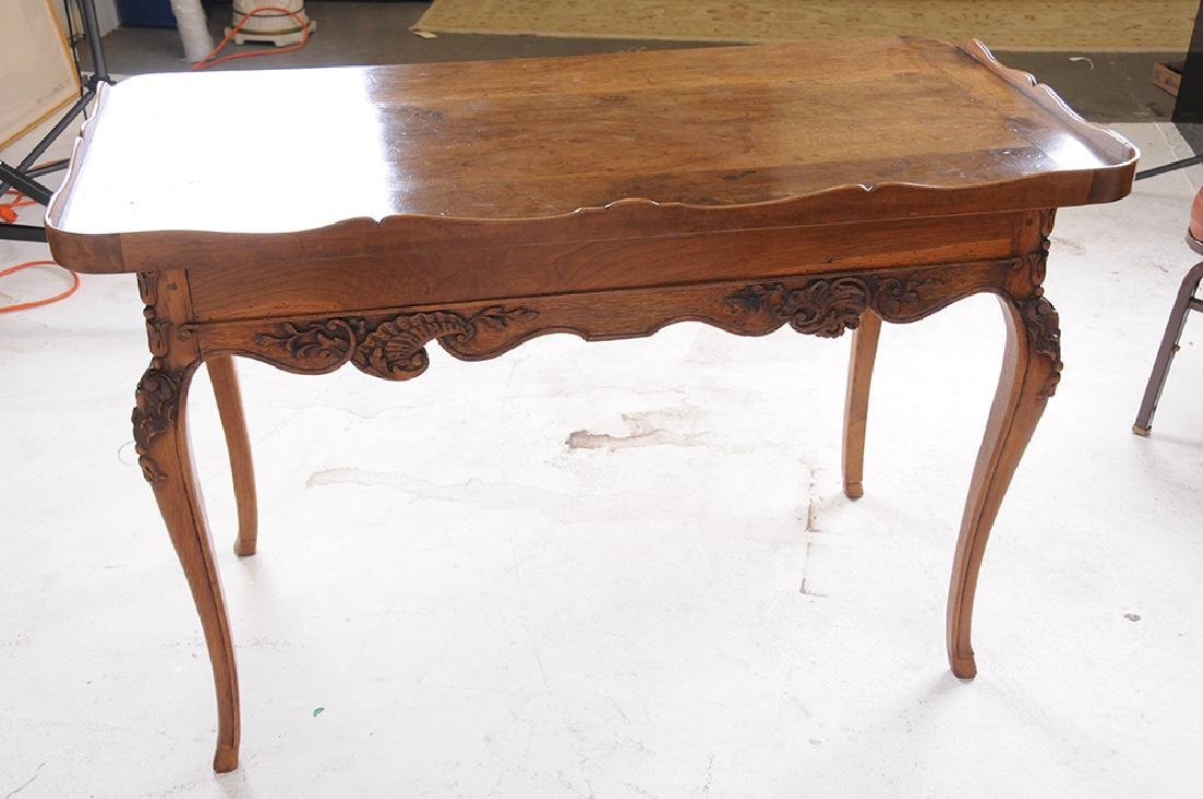 LOUIS XV CARVED OAK WRITING TABLE - 3