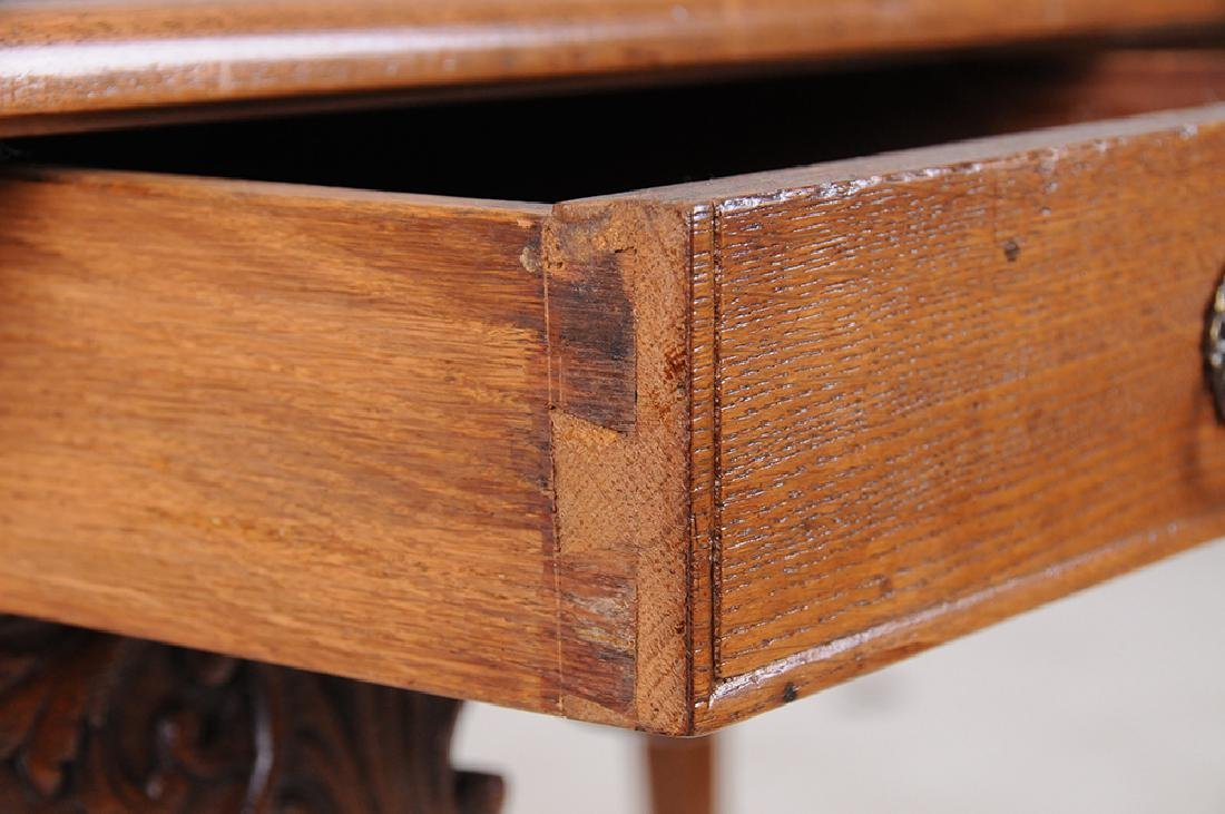 LOUIS XV CARVED OAK WRITING TABLE - 5