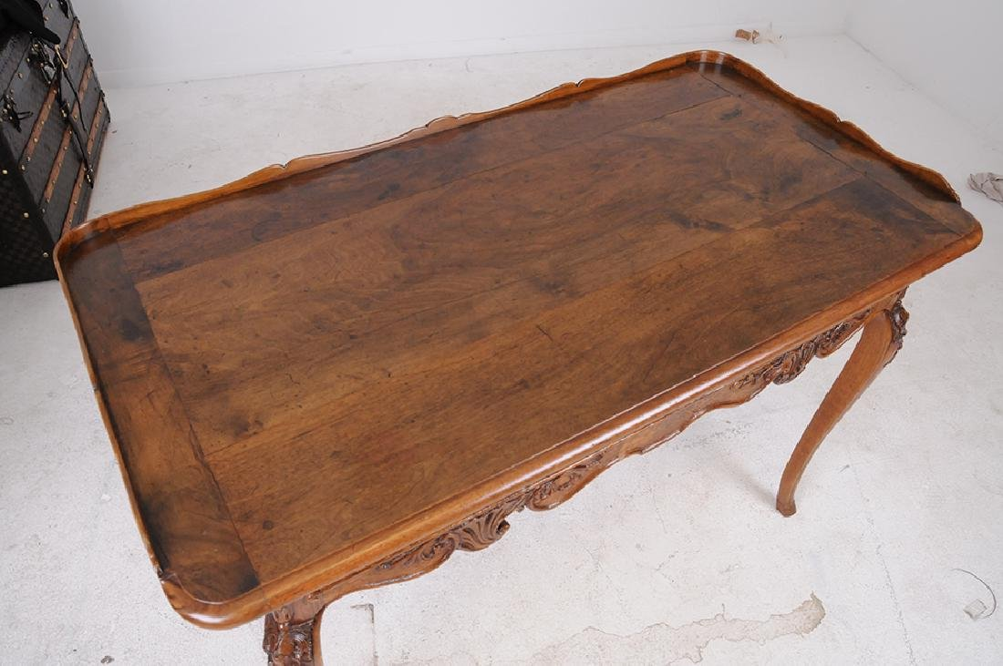 LOUIS XV CARVED OAK WRITING TABLE - 6