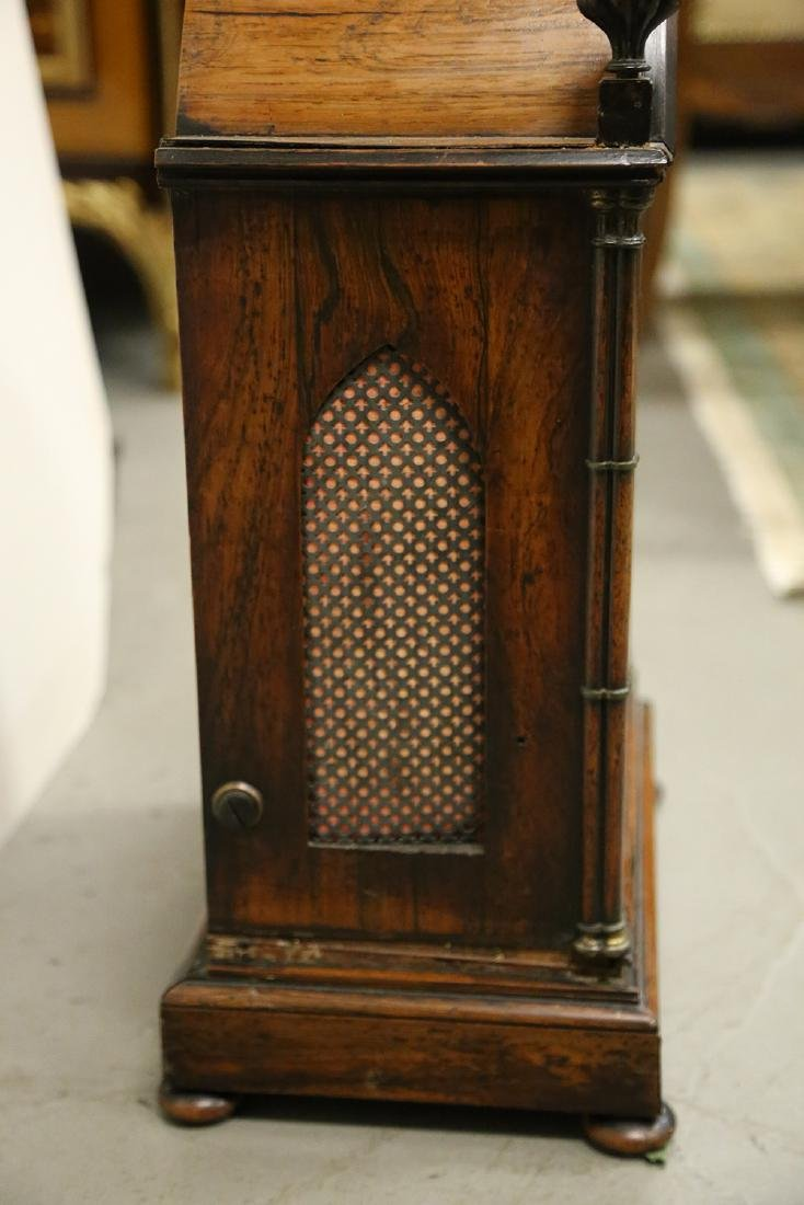 JOHN MOORE & SONS GOTHIC REVIVAL ROSEWOOD CASE MANTEL - 10