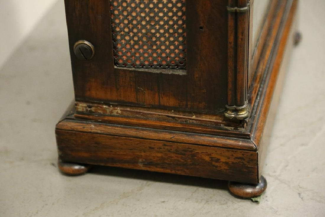 JOHN MOORE & SONS GOTHIC REVIVAL ROSEWOOD CASE MANTEL - 9