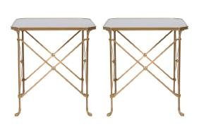 PAIR OF NEOCLASSICAL BRONZE SIDE TABLES