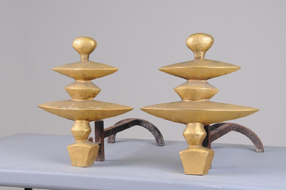 AFTER ALBERTO GIACOMETTI: PAIR OF ANDIRONS - 2