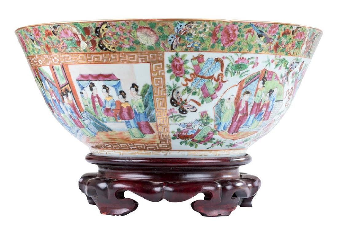 "CHINESE PORCELAIN ""ROSE CANTON"" BOWL"