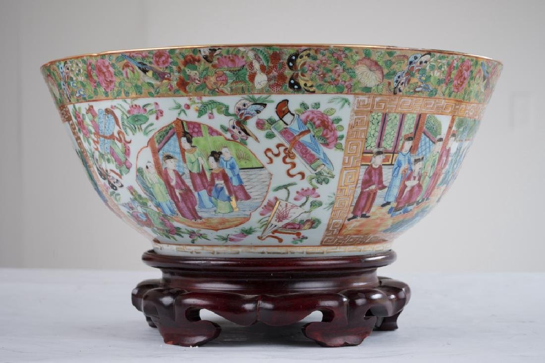 "CHINESE PORCELAIN ""ROSE CANTON"" BOWL - 2"