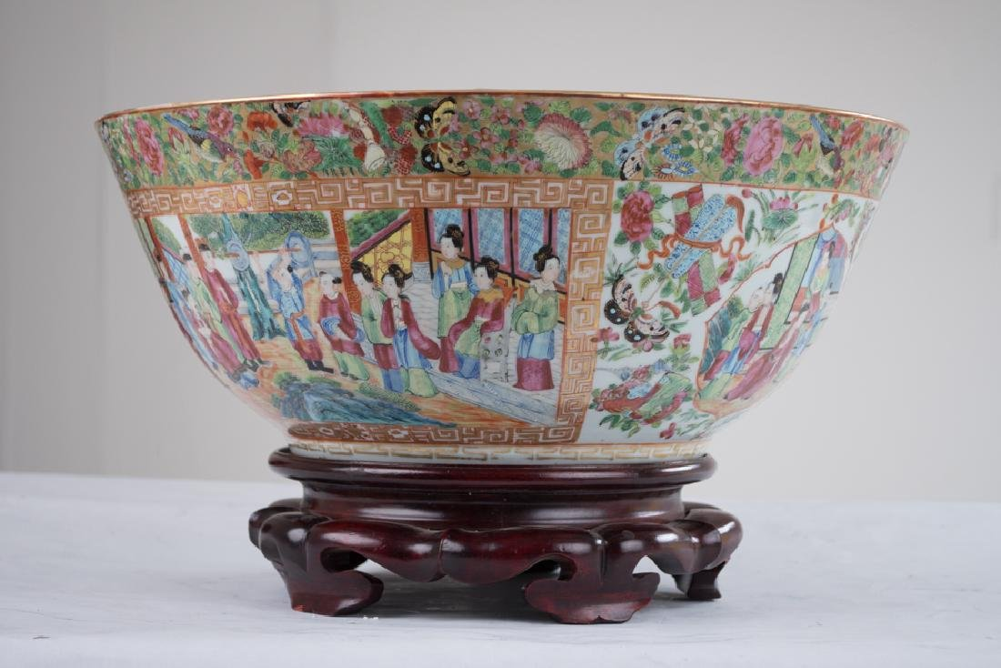 "CHINESE PORCELAIN ""ROSE CANTON"" BOWL - 6"