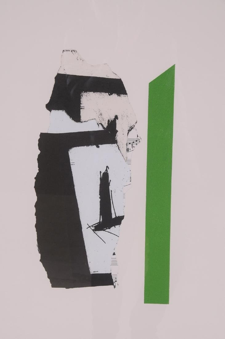 """ROBERT MOTHERWELL: """"IN WHITE WITH GREEN STRIPE"""" - 2"""