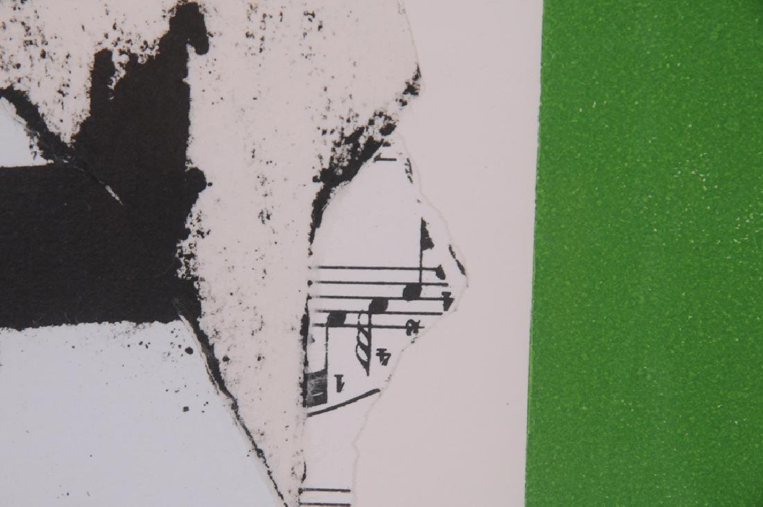 """ROBERT MOTHERWELL: """"IN WHITE WITH GREEN STRIPE"""" - 6"""