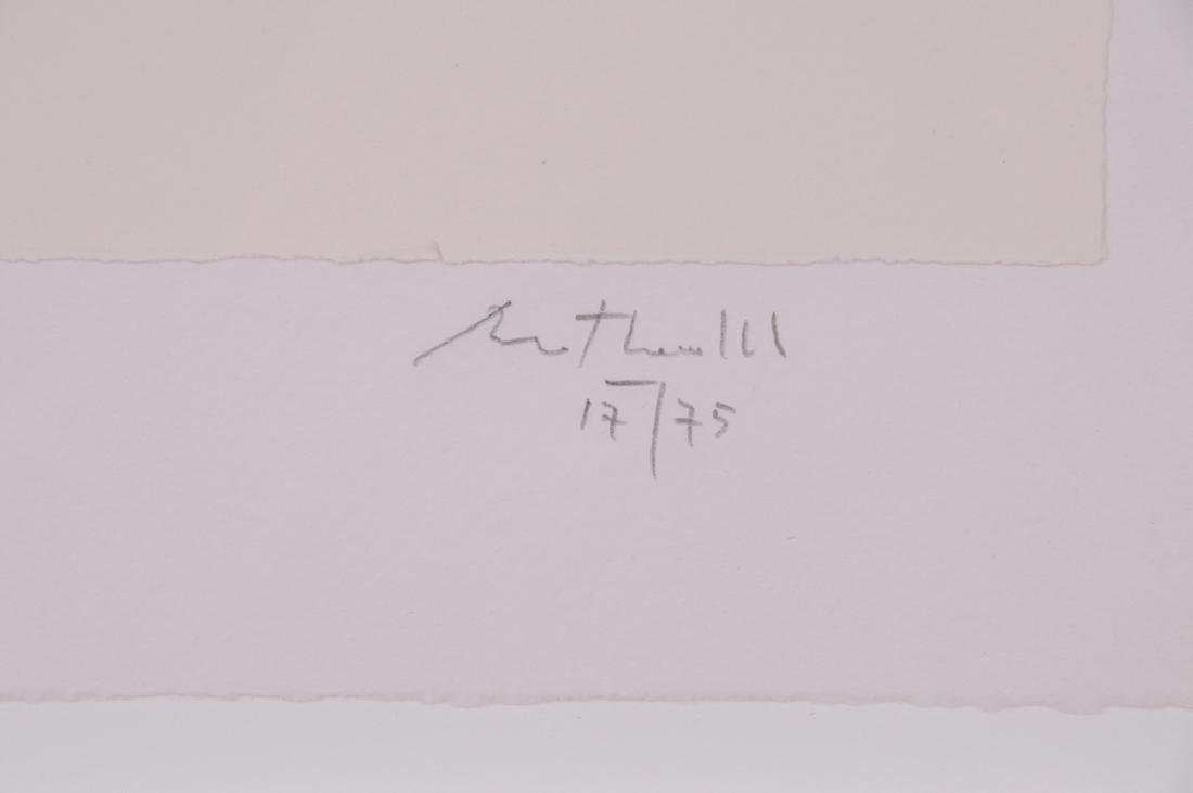 """ROBERT MOTHERWELL: """"IN WHITE WITH GREEN STRIPE"""" - 7"""