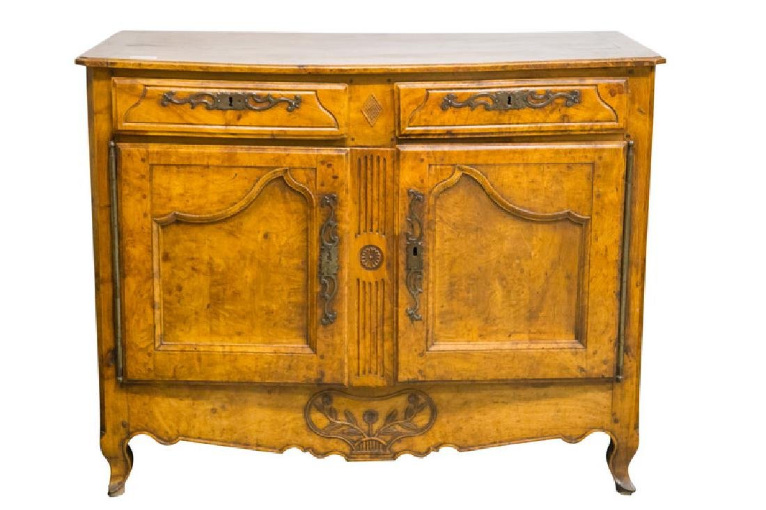 FRENCH PROVINCIAL FRUITWOOD & CHESTNUT BUFFET