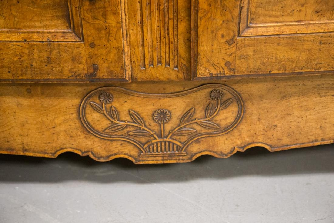 FRENCH PROVINCIAL FRUITWOOD & CHESTNUT BUFFET - 5