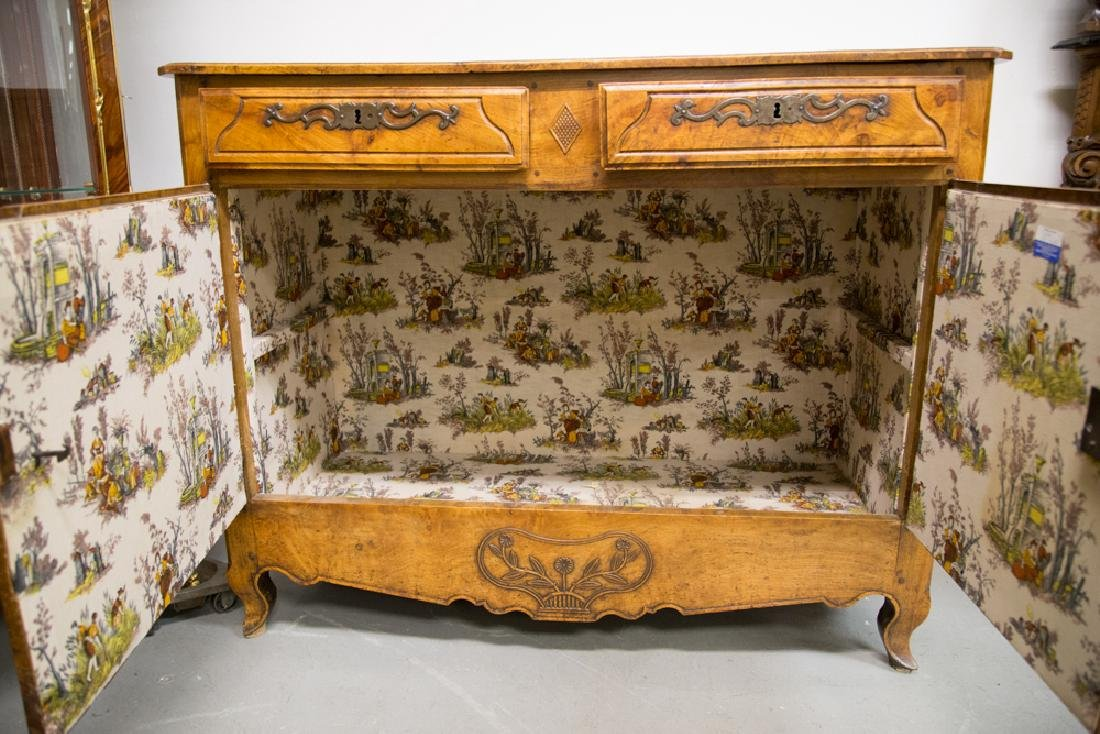 FRENCH PROVINCIAL FRUITWOOD & CHESTNUT BUFFET - 9
