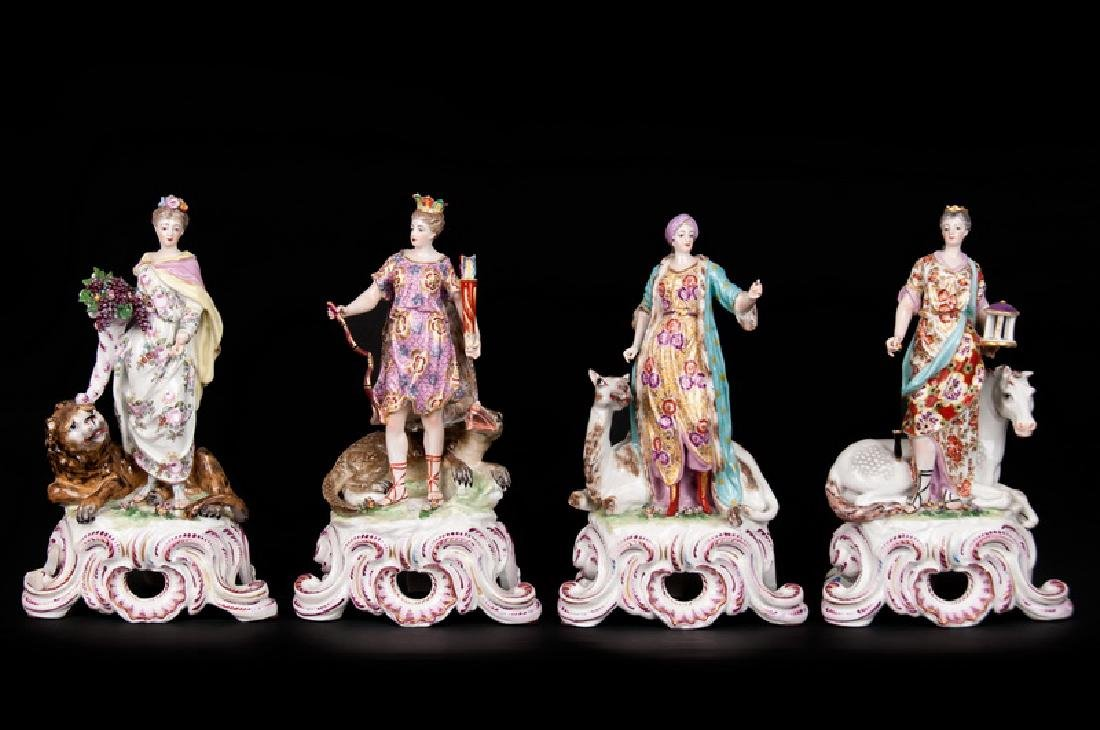 GERMAN PORCELAIN GROUP OF THE FOUR CONTINENTS