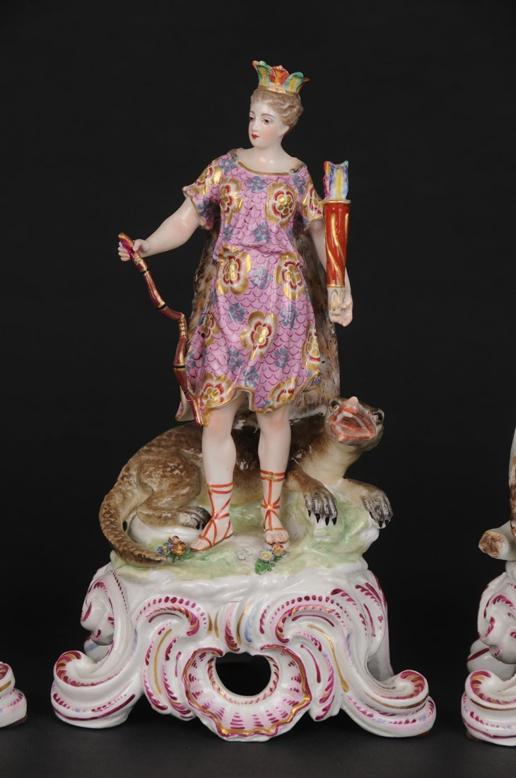 GERMAN PORCELAIN GROUP OF THE FOUR CONTINENTS - 3