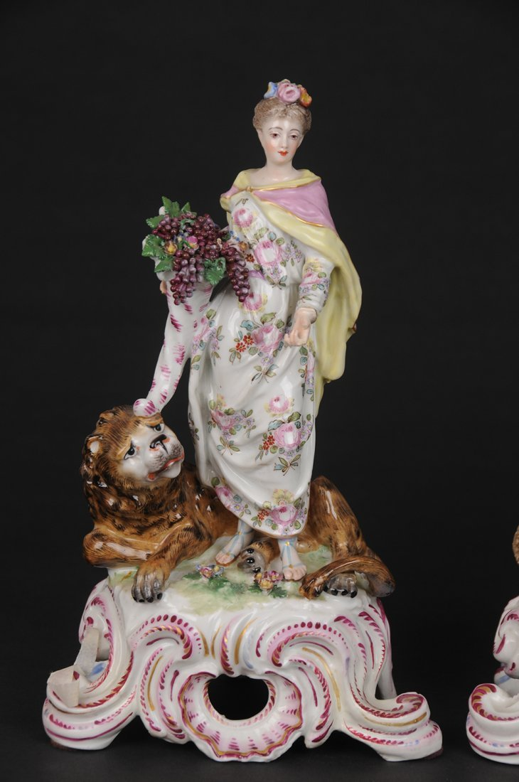 GERMAN PORCELAIN GROUP OF THE FOUR CONTINENTS - 4
