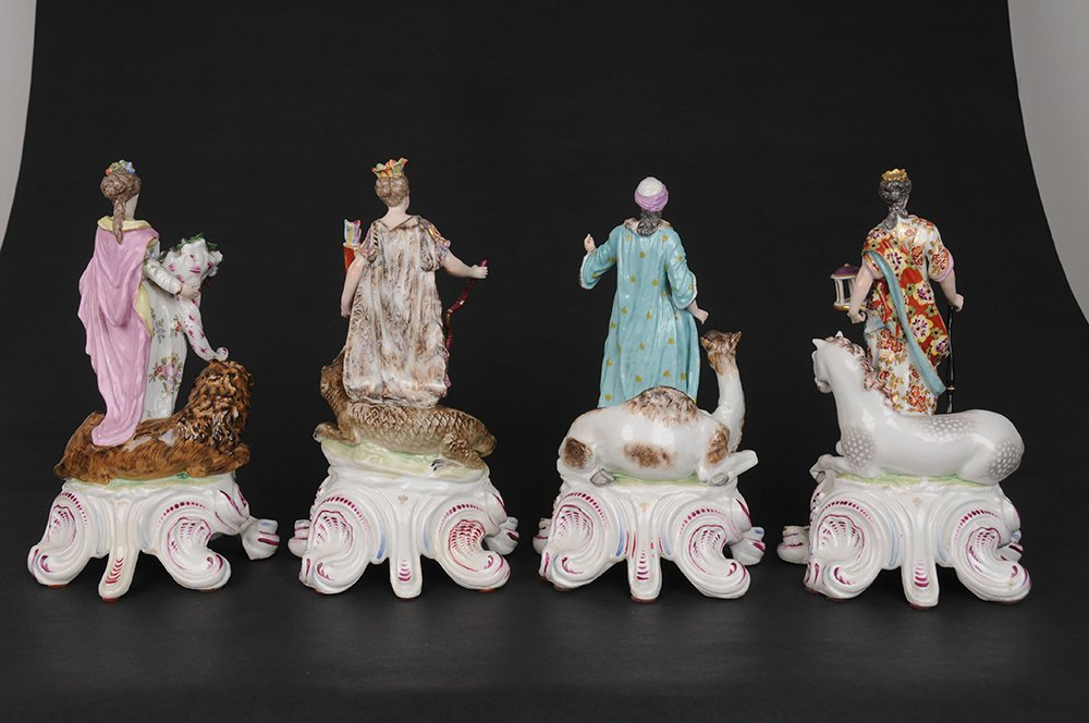GERMAN PORCELAIN GROUP OF THE FOUR CONTINENTS - 6