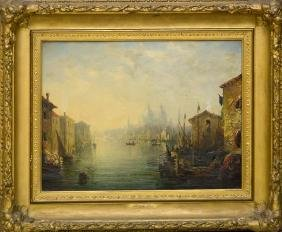 """GEORGE LORING BROWN:  """"GRAND CANAL VENICE"""""""