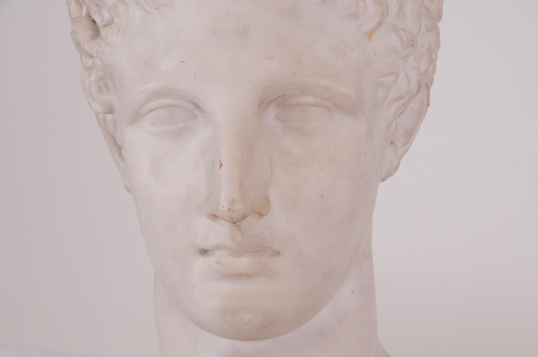 ITALIAN CARVED MARBLE BUST - 2