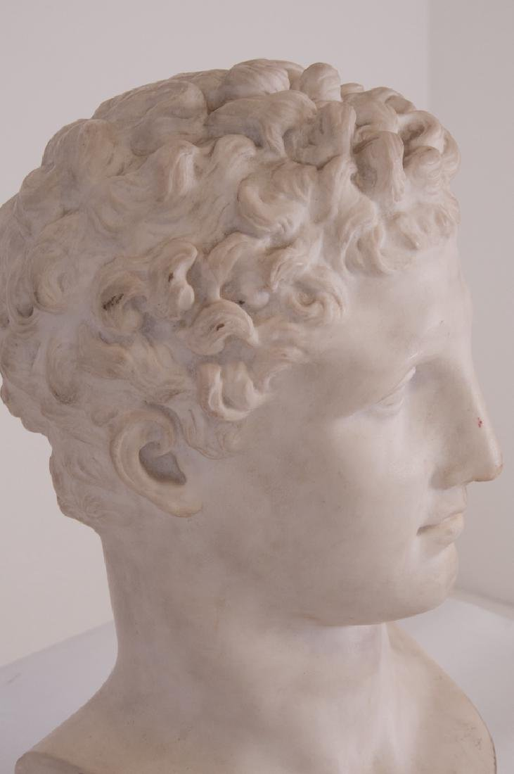 ITALIAN CARVED MARBLE BUST - 4
