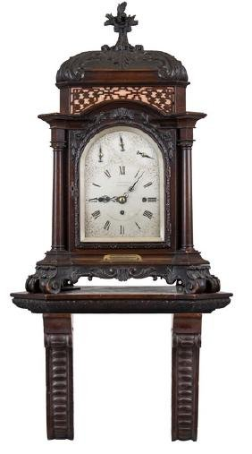 VICTORIAN CHIPPENDALE STYLE MAHOGANY MANTEL CLOCK