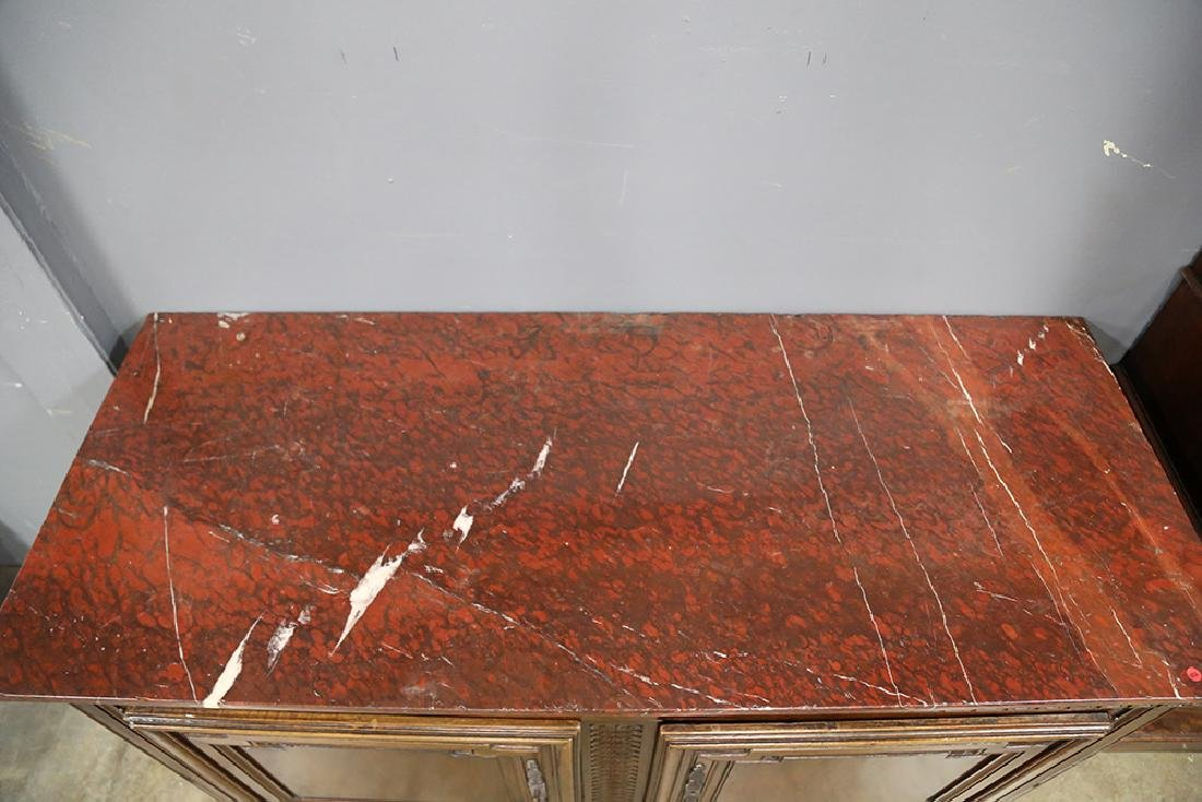 LOUIS XV STYLE MARBLE TOP COMMODE - 2