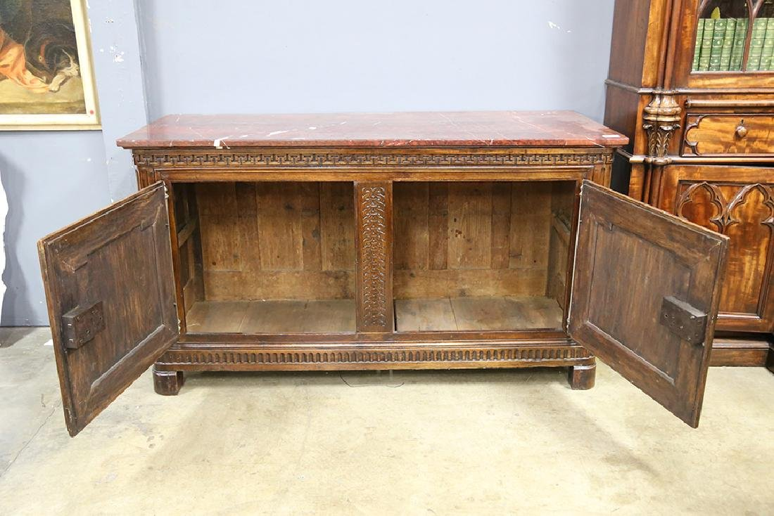 LOUIS XV STYLE MARBLE TOP COMMODE - 6