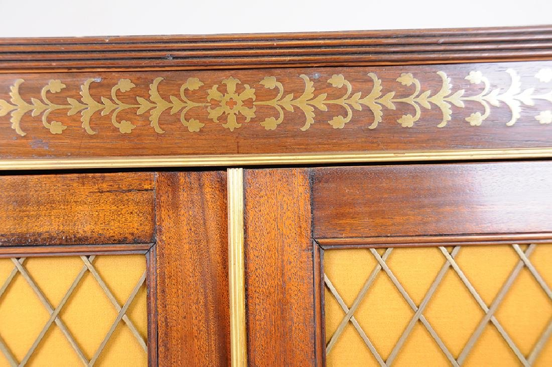 PAIR OF REGENCY MAHOGANY SIDE CABINETS - 6
