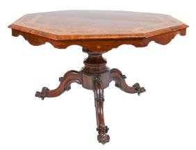 CONTINENTAL INLAID CENTER TABLE