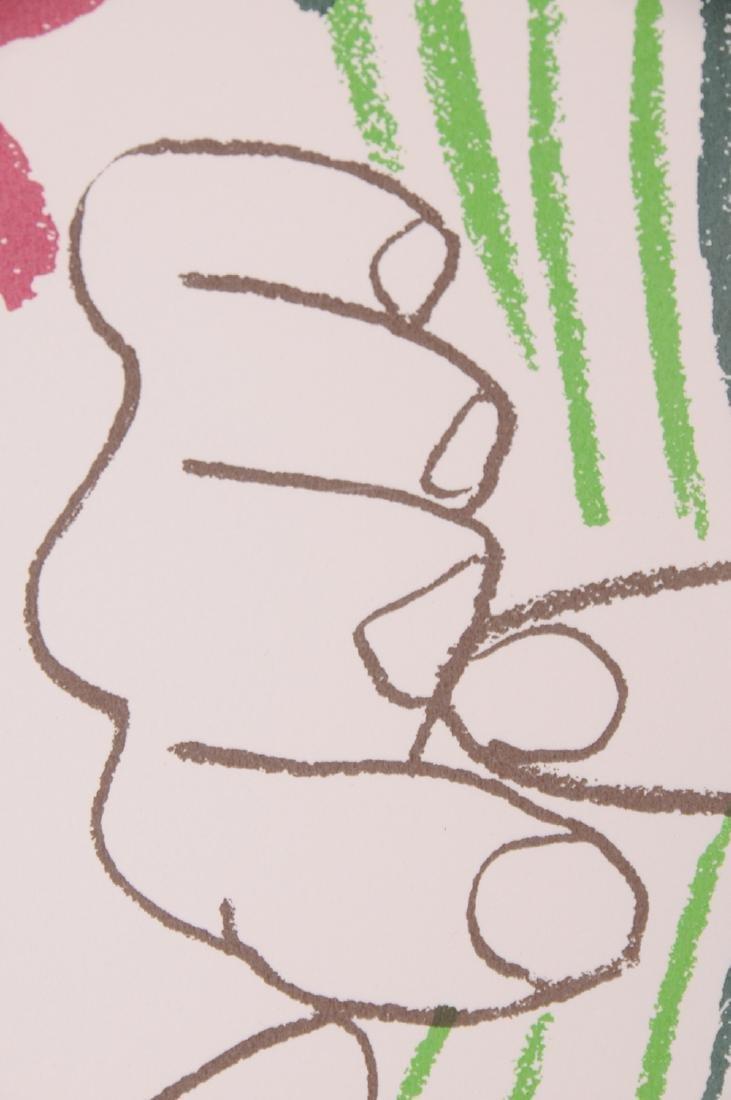 """PABLO PICASSO: """"LE PAIX (MAINS ET BOUQUET DE FLEURS) - 4"""