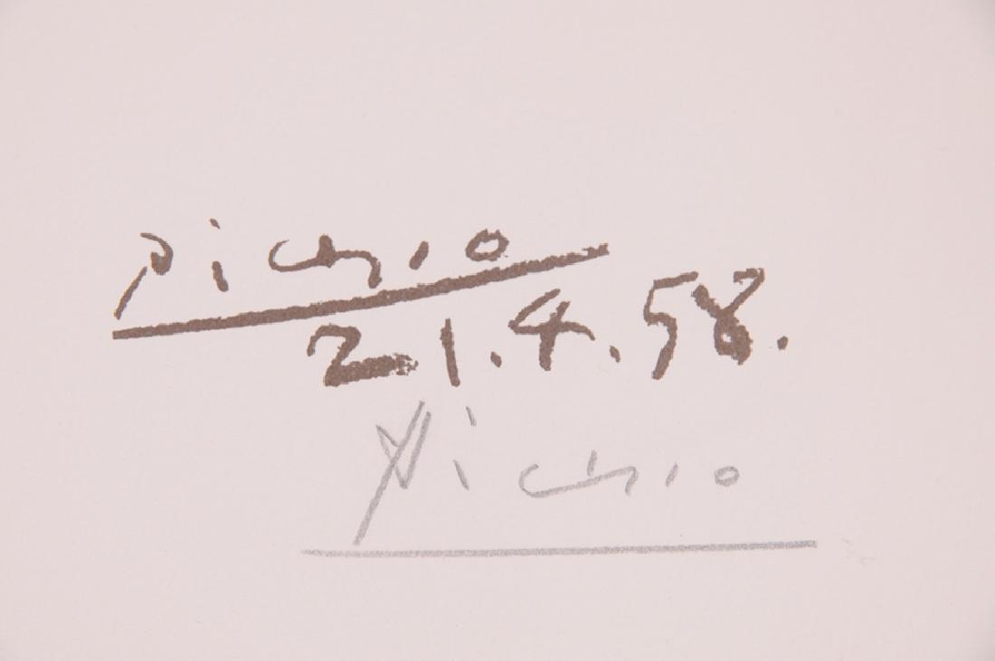 """PABLO PICASSO: """"LE PAIX (MAINS ET BOUQUET DE FLEURS) - 7"""