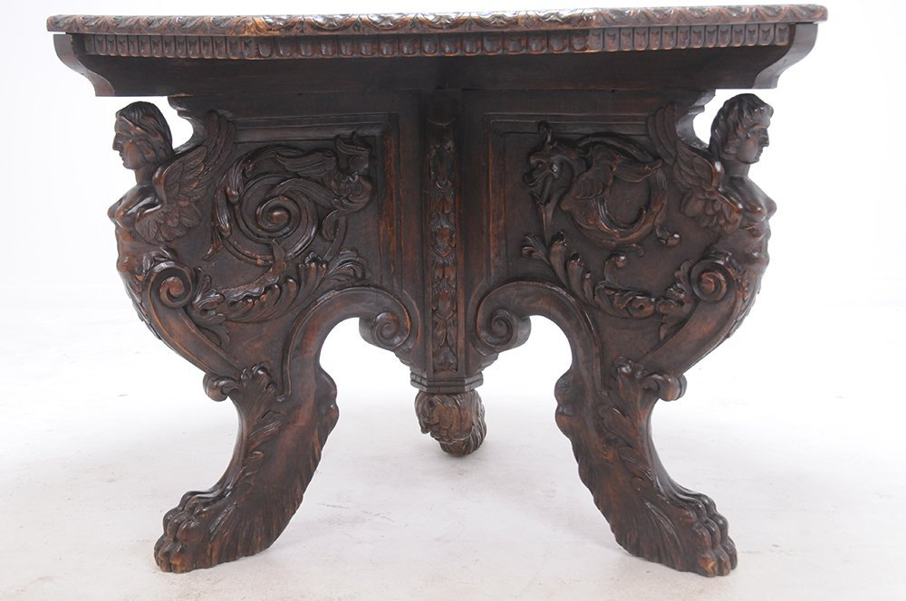 ITALIAN RENAISSANCE STYLE WALNUT CENTER TABLE - 2
