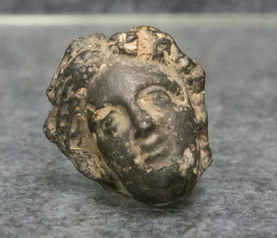 SMALL BRONZE ROMAN HEAD