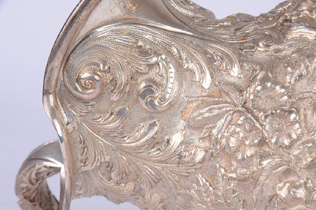KIRK & SON STERLING REPOUSSE PITCHER - 3